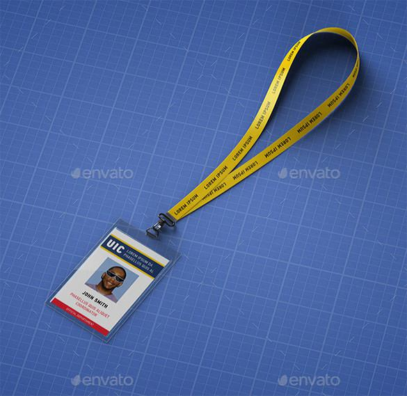 Lanyard ID Card PSD Template