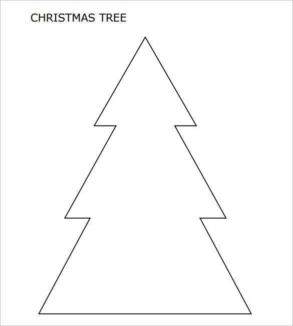 Large Christmas Tree with Pointed Corners PDF