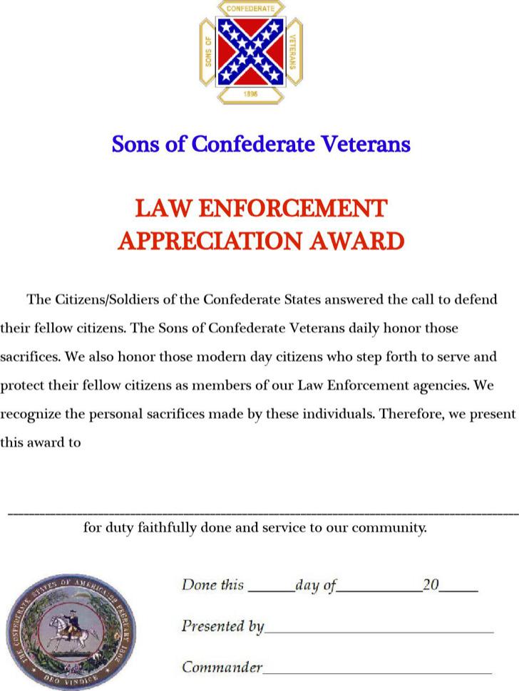 Law Enforcement Appreciation Award