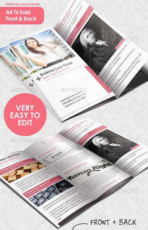Law Firm Tri Fold Leaflet Brochure Template