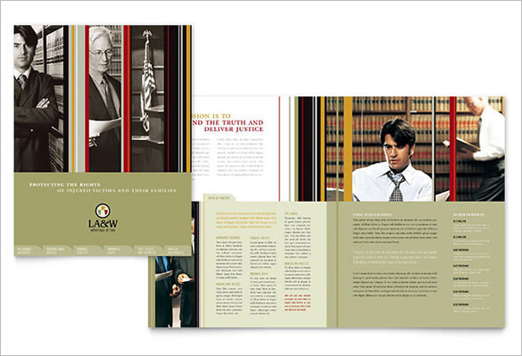 Lawyer & Law Firm Brochure Template