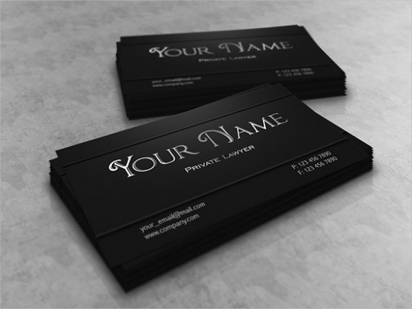 Lawyer Business Card Design Free Vector