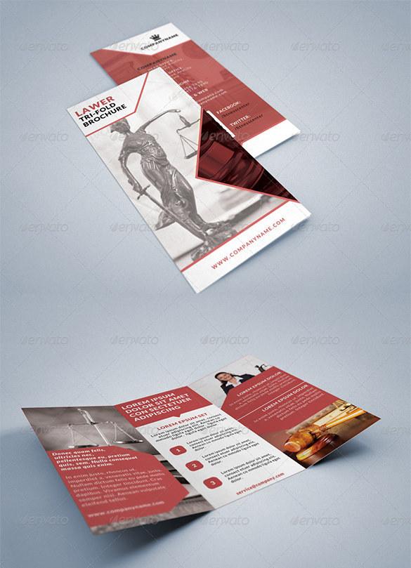 Lawyer Legal Consultancy Tri-fold Brochure