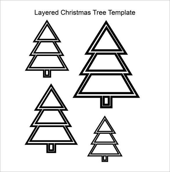 Layered Christmas Tree Template PDF Download