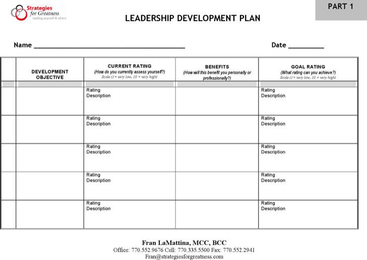 Leadership Development Plan Free Pdf Template Download