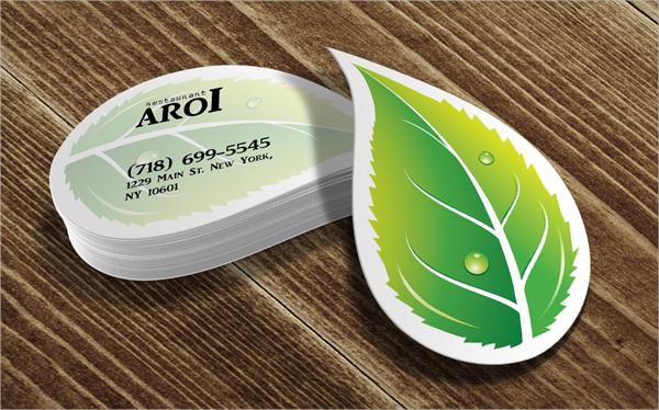 Leaf Die Cut Business Card