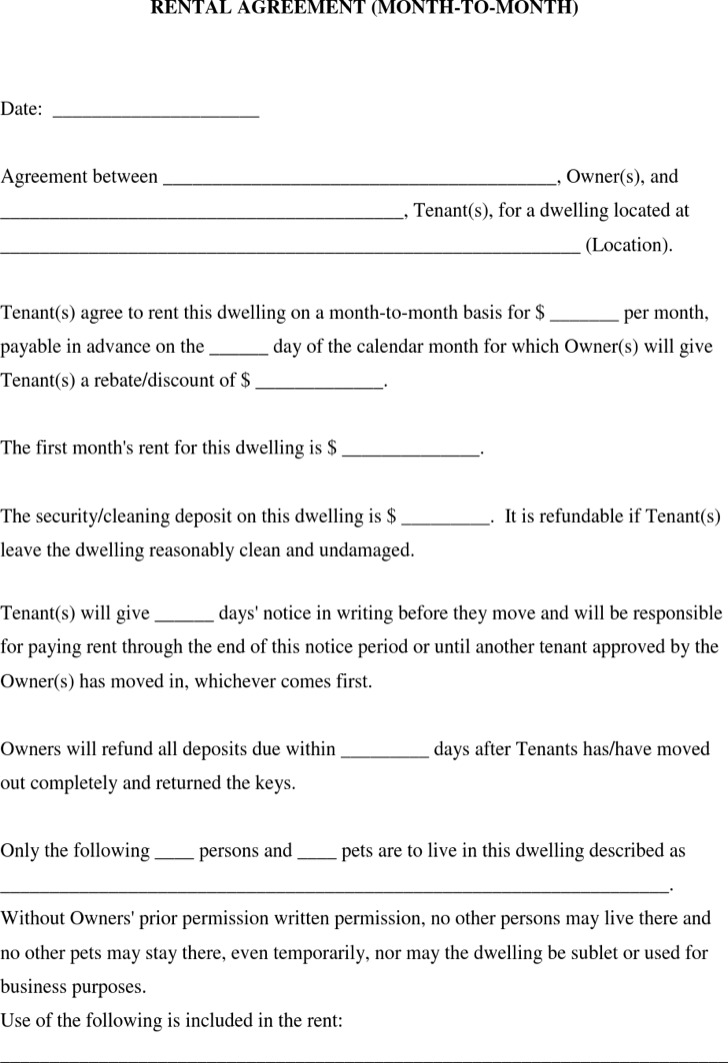 20 lease template free download