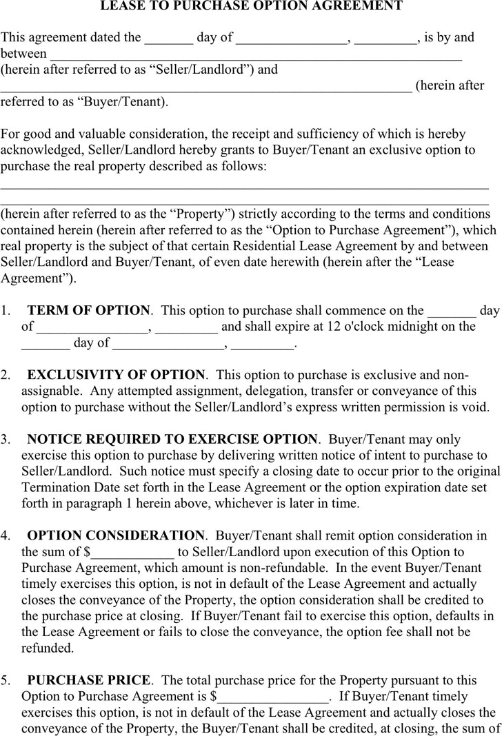 Download Lease Purchase Agreement For Free Tidytemplates