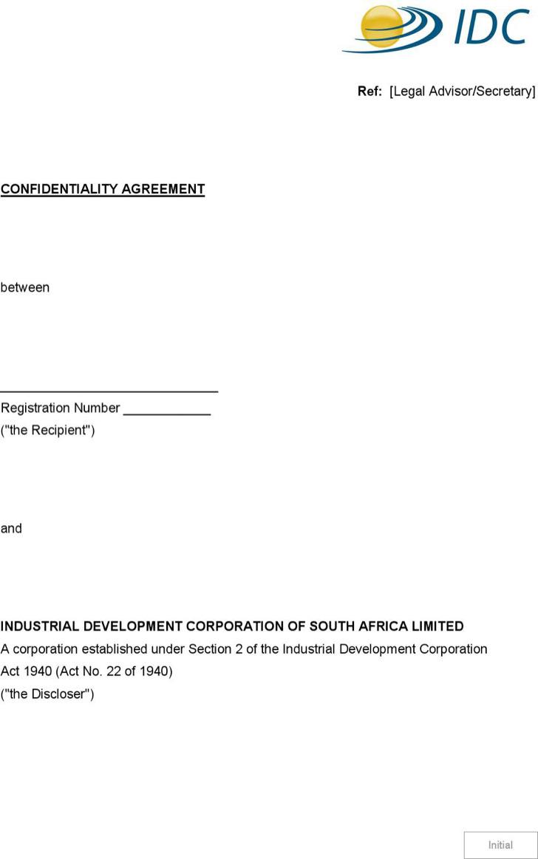 Legal Advisor Secretary Confidentiality Agreement