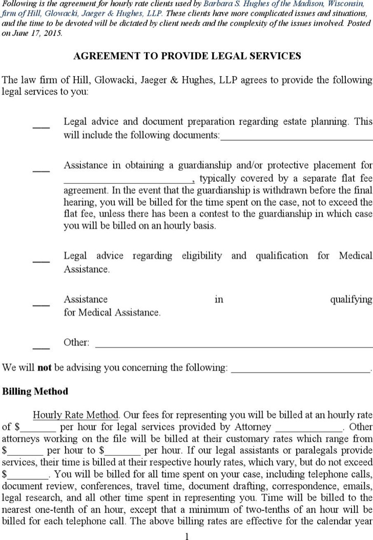 Legal Agreement Statement Services Template