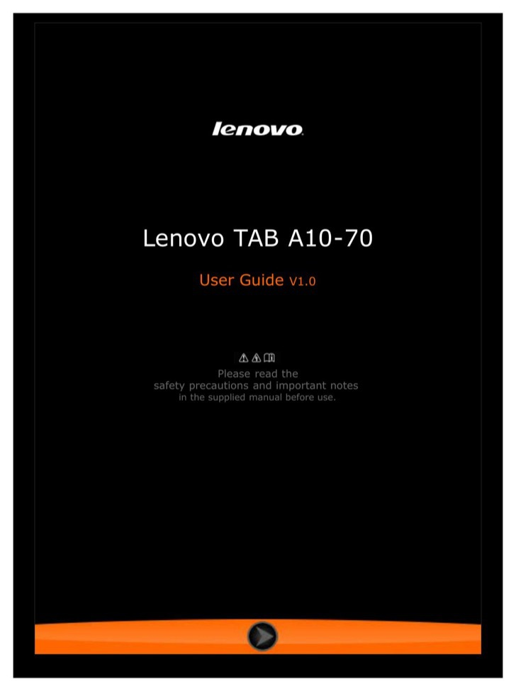 Lenovo User's Manual Sample