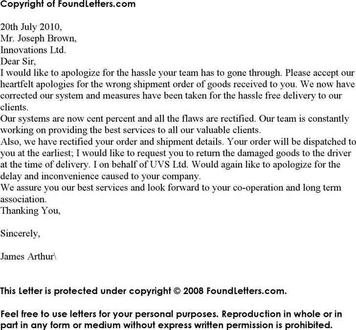 Download Apology Letter for Mistake for Free - TidyTemplates