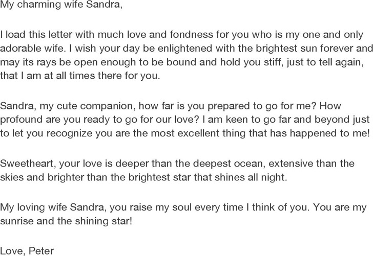 Letter to Wife
