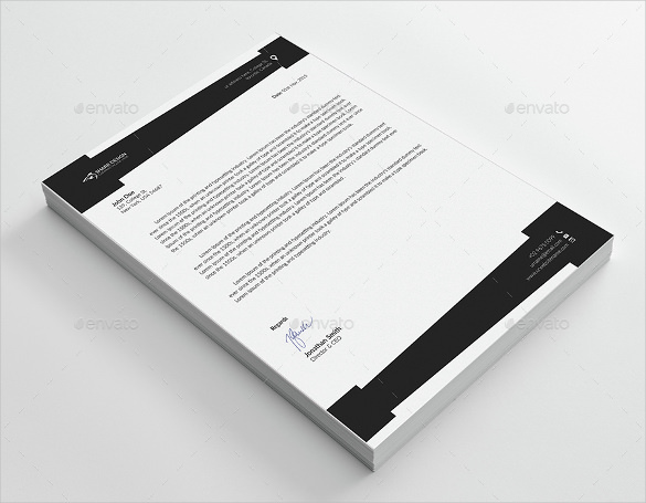 Letterhead Design Sample Example