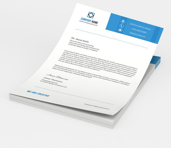 Letterhead for Sales & Marketing Manager