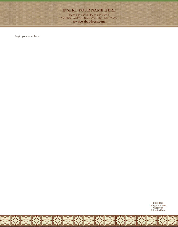 Letterhead (Legal Chic Design)