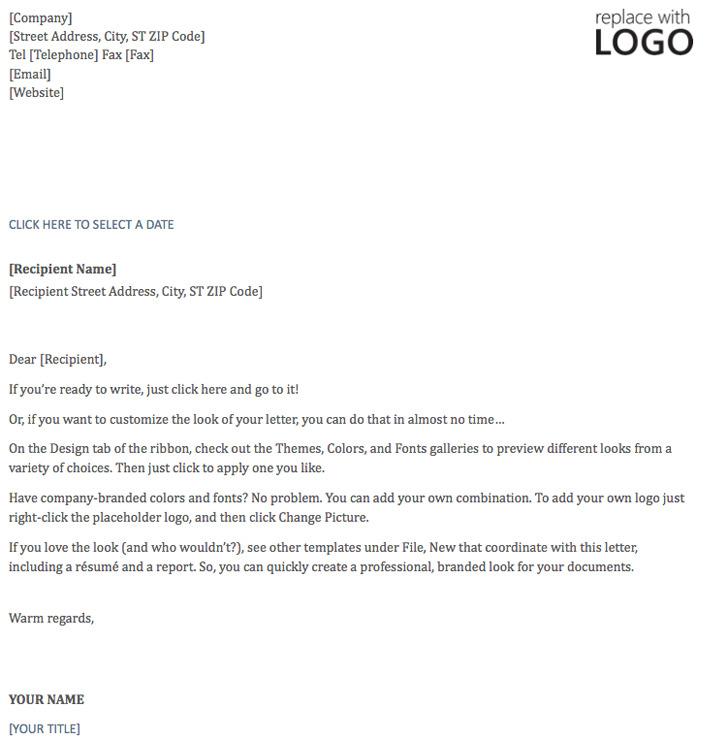 Letterhead Template (Timeless Design)