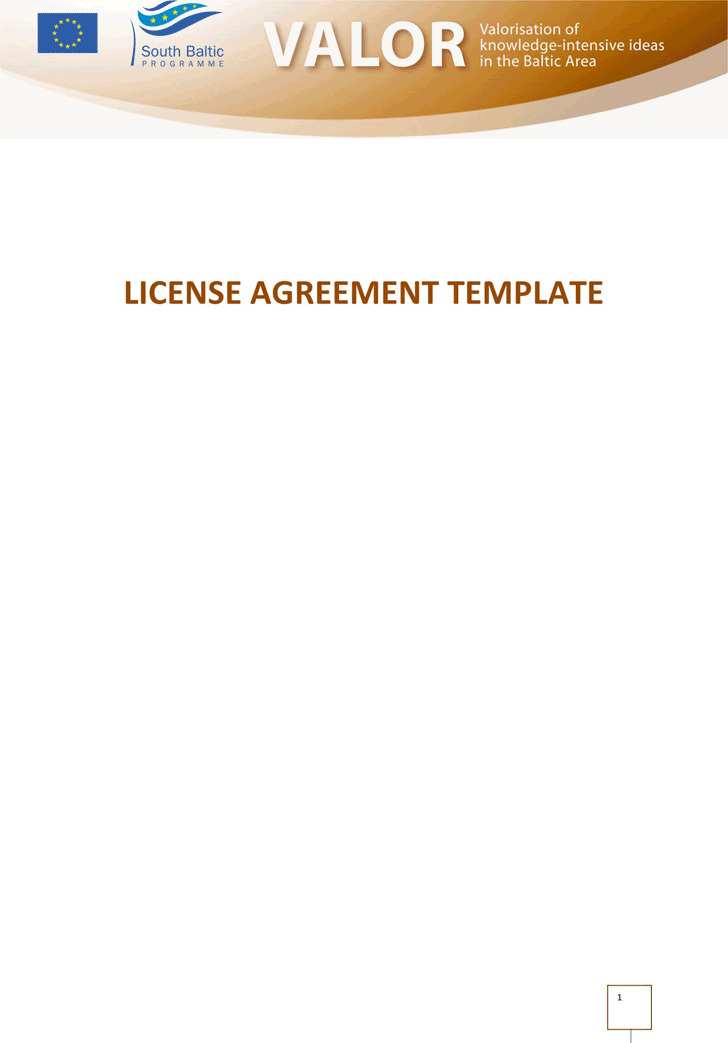 License Agreement Template 3