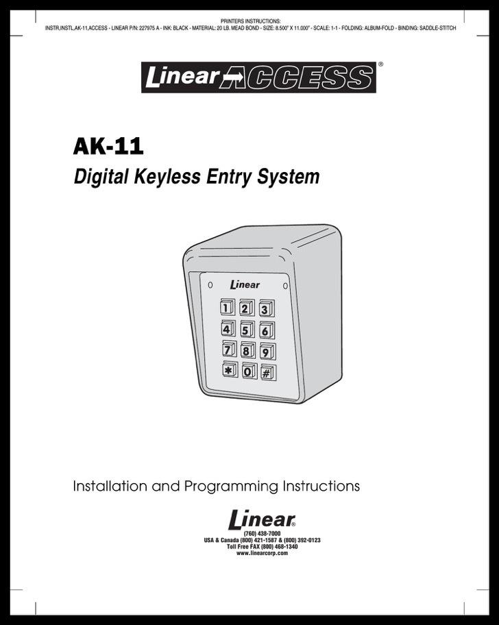 Linear Quick Start Guide Sample