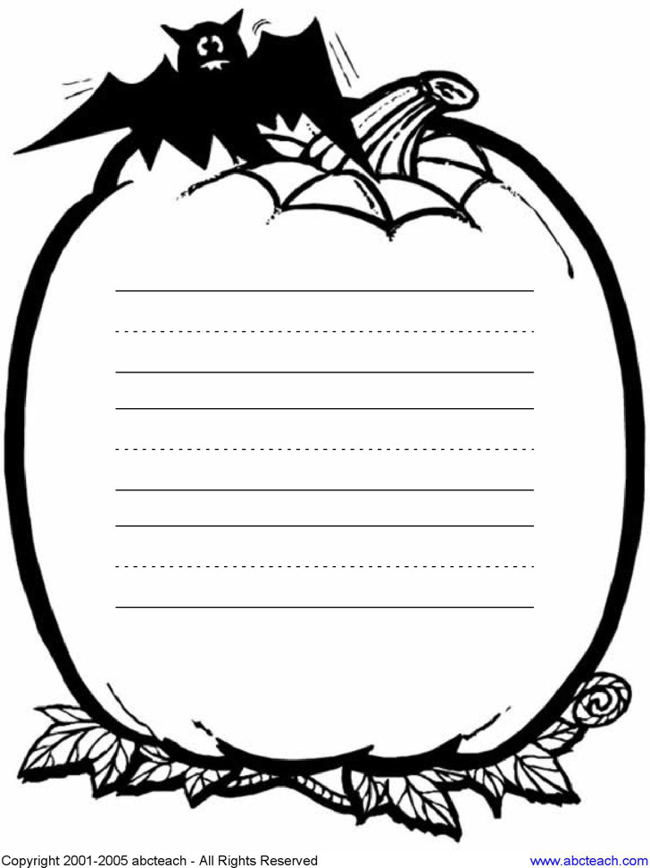 Lined Paper Template for Kids 1