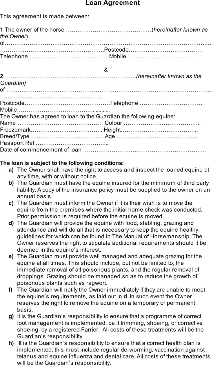 Loan Contract Template 2
