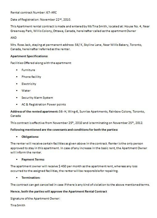 Loan Contract Template PDF Format Free Download