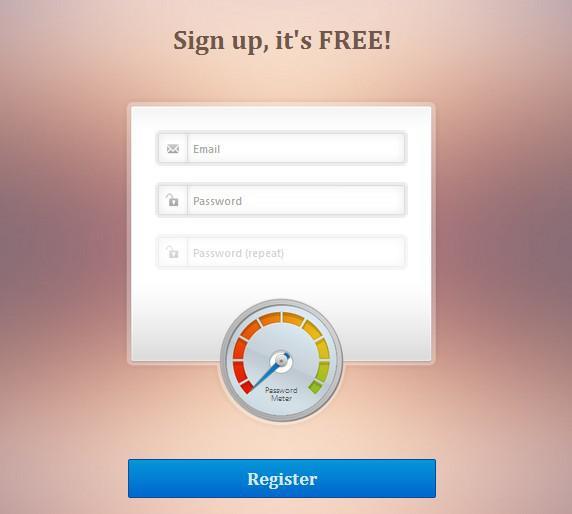 Login or Register Form with Error Handling