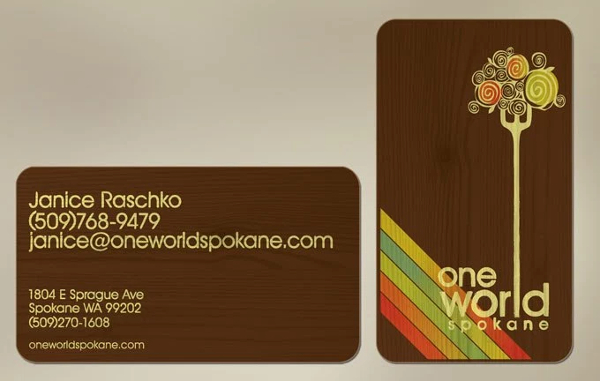 Lovely Business Card Design With a Retro