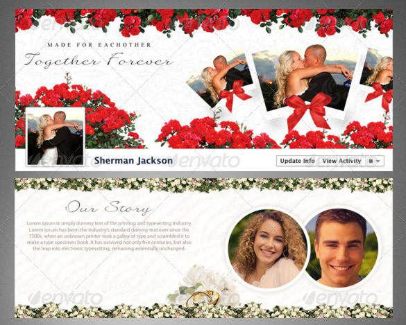 Lovers Facebook Timeline Cover PSD Template Photoshop