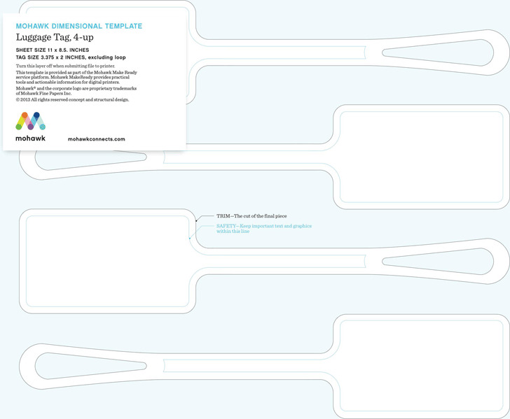 Luggage Tag Template 2