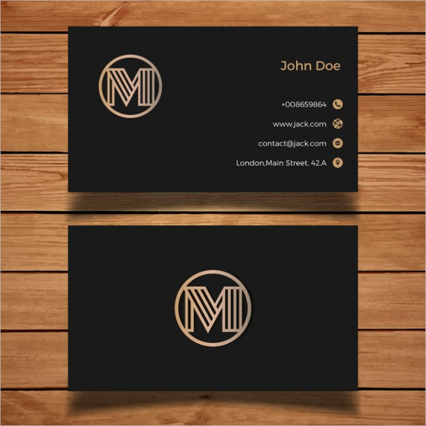 Luxury Black and Golden Business Card Free Vector