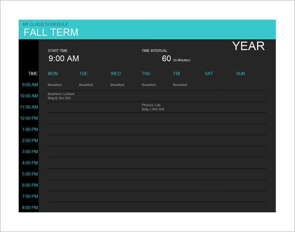 Mac Calendar Template MS Online