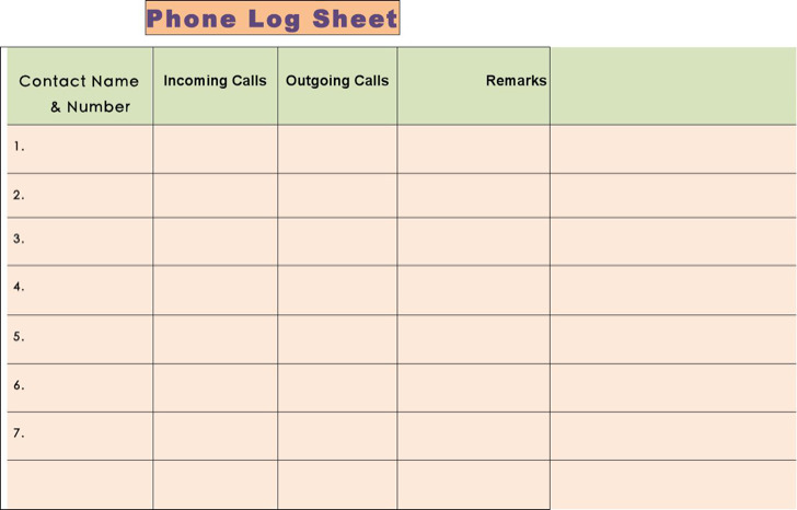 Mac Phone Call Log Template Free