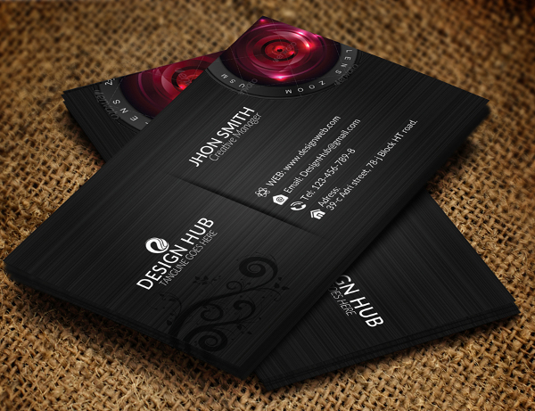 Magazine Folded Business Card