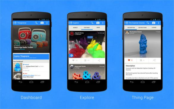 MakerBot Thingiverse Android App