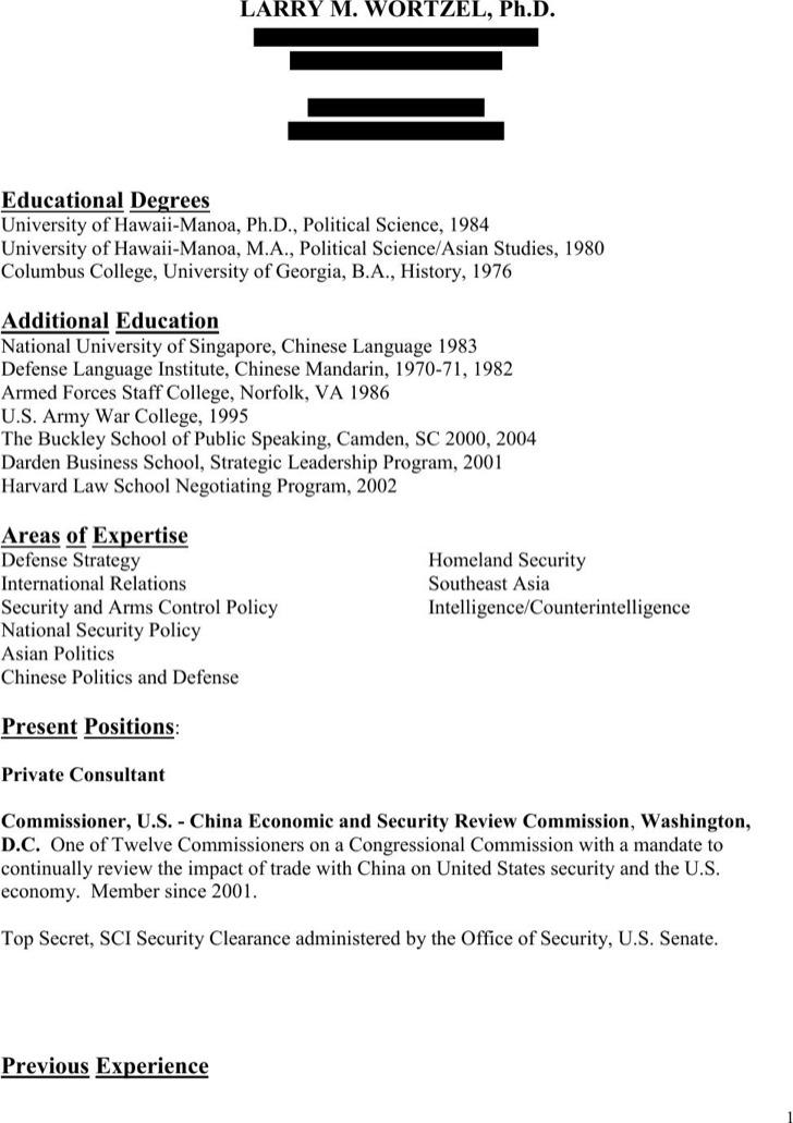 Marine Infantryman Resume