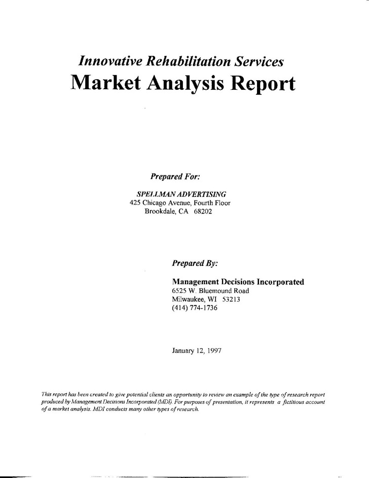 Market Analysis Report