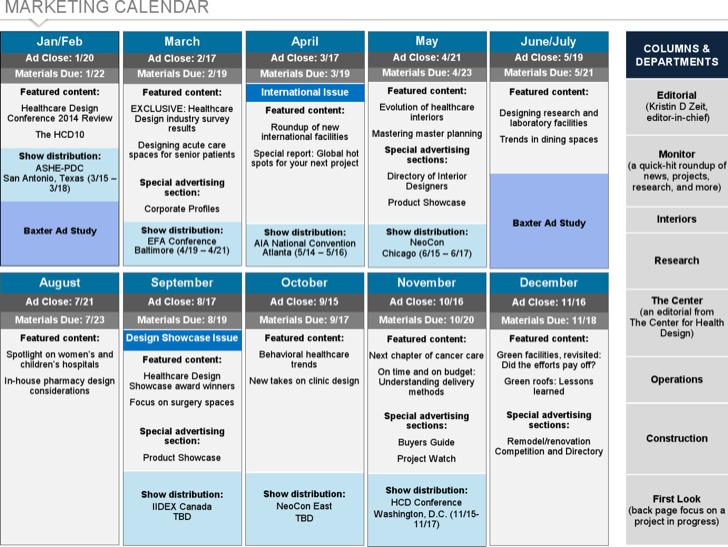 Marketing Content Calendar Template