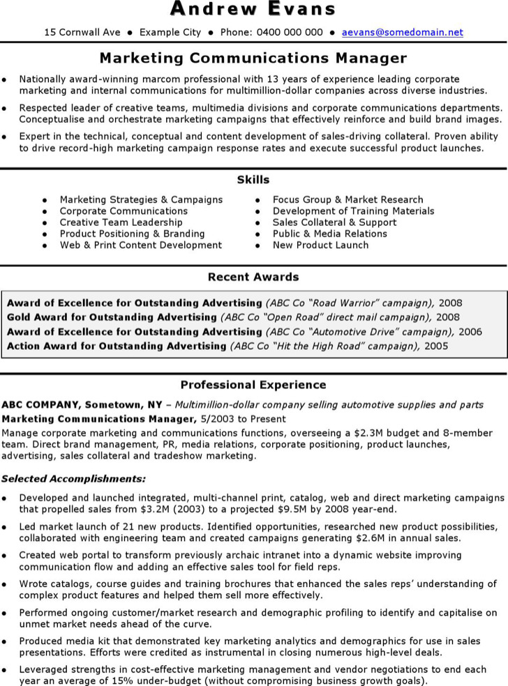 5  marketing coordinator resume templates free download