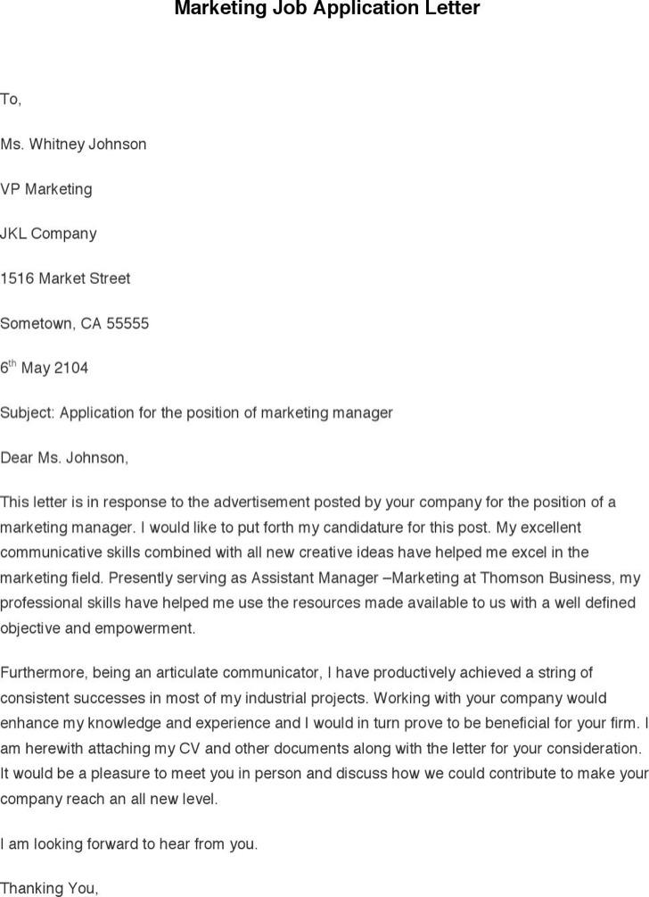 Marketing Job Application Letter1