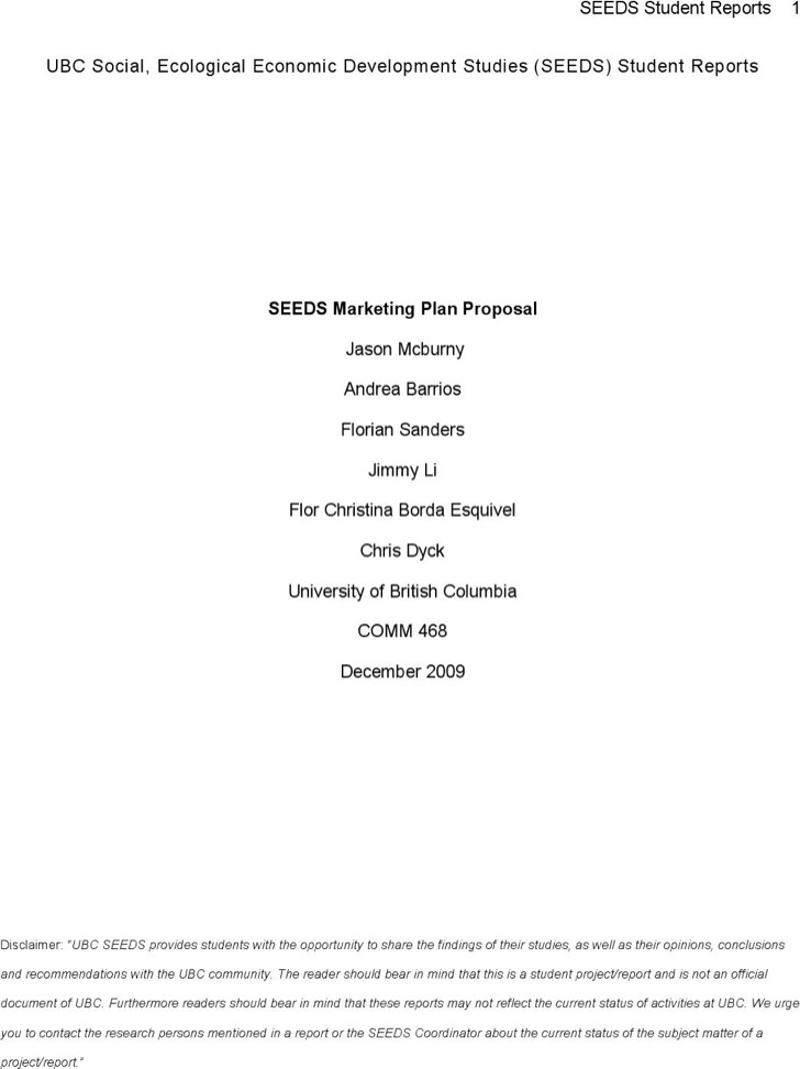 Marketing Plan Proposal Pdf Download