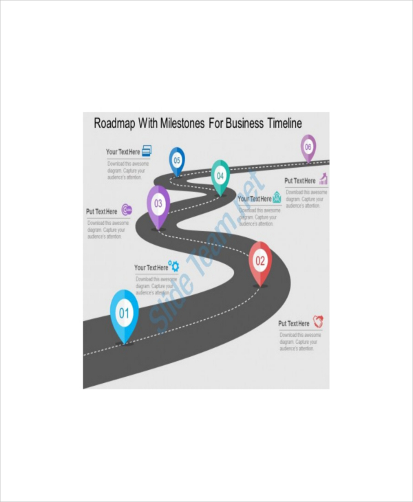 Marketing Roadmap With Milestones