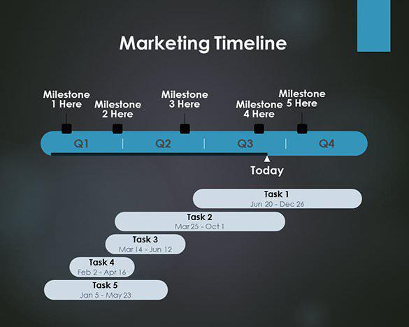 Marketing Timeline Template free PowerPoint Format