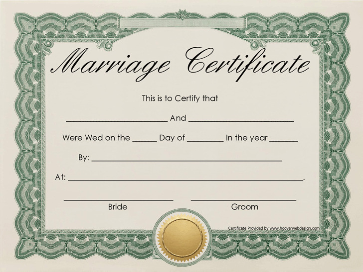 Marriage Certificate 1