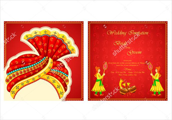 Marriage Theme Wedding Invitation Template For Download