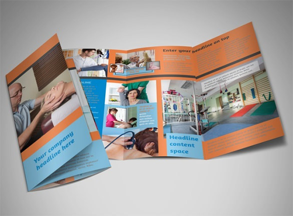 Massage & Chiropractic Office A4 Tri Fold Brochure Template