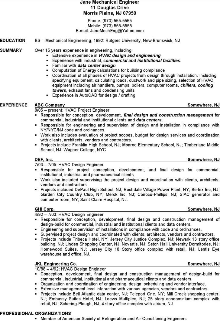 9  hvac resume template free download