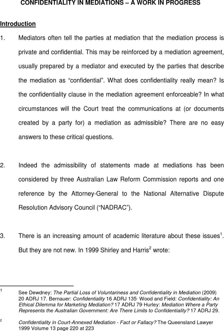 Mediation Confidentiality Agreement For Marketer