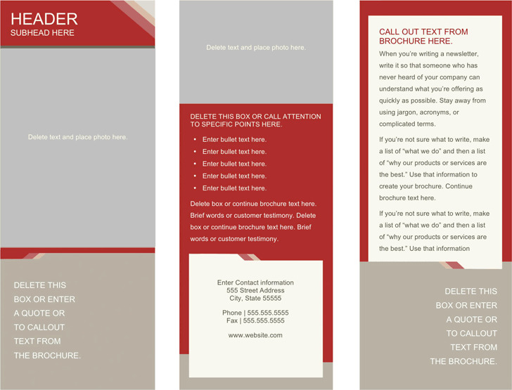 Medical Brochure Template 1