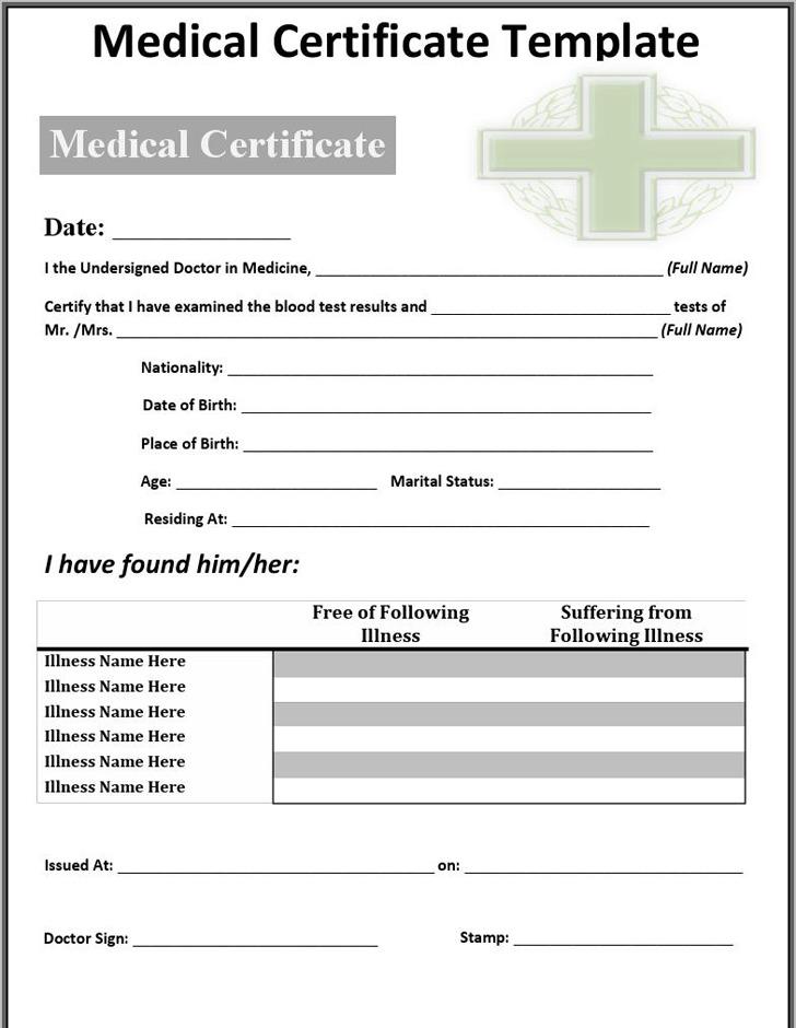 2 Medical Certificate Sample Free Download
